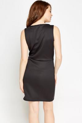 Bodycon Basic Dress M / Seide / Schwarz